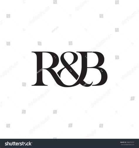 A R A B rb initial logo ersand monogram logo stock vector
