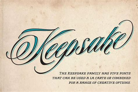 Keepsake Tattoo Font | 21 best tattoo fonts for body art