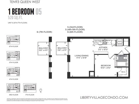 1 bedroom condo floor plans ten93 queen west pre construction condo liberty village