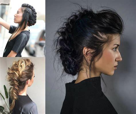 mohawk hairstyles for black women nice braided medium hair