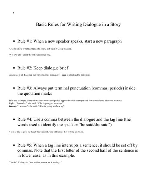 exle of dialogue dialogue notes with exles