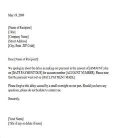 Apology Letter Format For Late Payment Formal Apology Letters