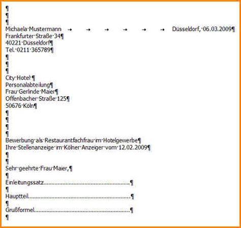 Musterbrief Bewerbung Anschreiben 9 Din 5008 Musterbrief Questionnaire Templated