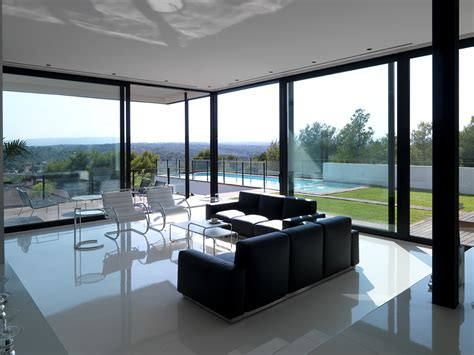 glass wall design for living room a fusion of black white ultra modern house is a