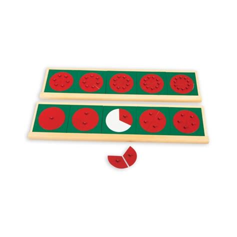 Montessori Fraction montessori wooden stands for fraction circles