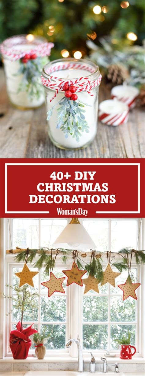 christmas diy home decor 47 easy diy christmas decorations homemade ideas for