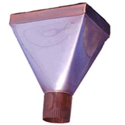 K Funnel Gutter - funnel copper 16oz oval 3 quot