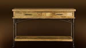 console rustique bois et fer forg 233