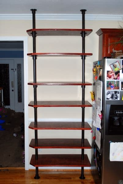 floor to ceiling shelves floor to ceiling pole mounted kitchen shelving