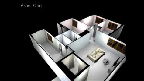 how to make a 3d bedroom model 5 rm hdb flat 5 improved 5i model floor plan typical layout chua chu kang 3d
