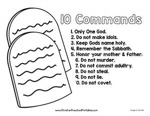 printable coloring pages for ten commandments ten commandment bible printable