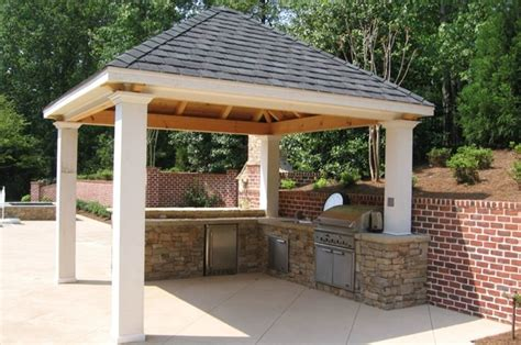 covered outdoor kitchen outdoor kitchens by premier deck and patios san antonio tx