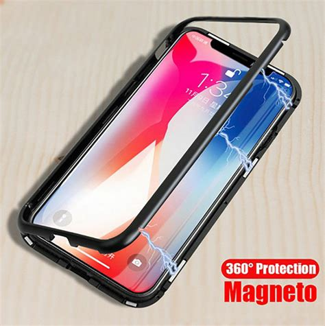 magnetic adsorption metal for iphone xs max xr luxury