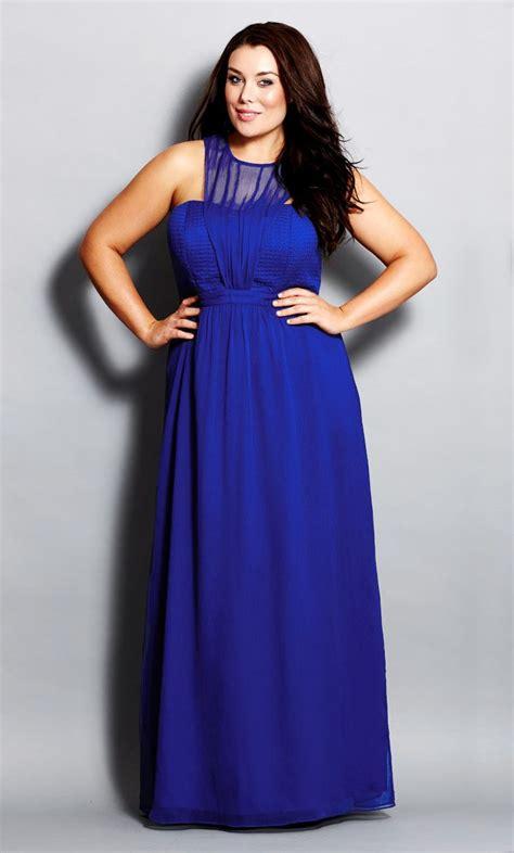 Big Size Blue city chic royale maxi dress s plus size fashion