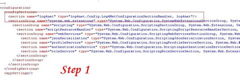 log4net config section configuring log4net inasp net2 0 and higher version with