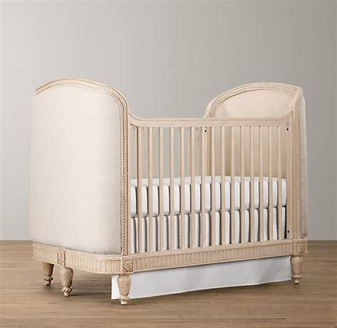 upholstered baby crib upholstered crib distressed linen