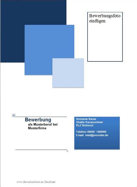 Bewerbungsunterlagen Erstellen Kostenlos Bewerbung Deckblatt Muster Vorlage Beispiel Downloaden