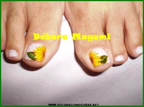 imagenes de uñas decoradas girasoles u 241 as de pies decoradas con girasoles imagui