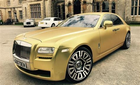 rolls royce gold and white this matte gold rolls royce can be yours for just 16