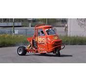 This Is A Piaggio Ape Car That Can Drift