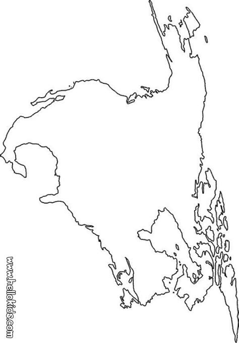 coloring page for north america north america map coloring page