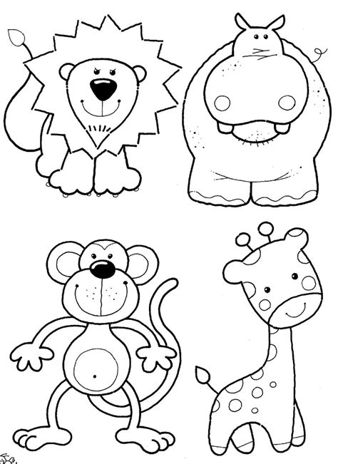 printable animal free safari sketches coloring pages