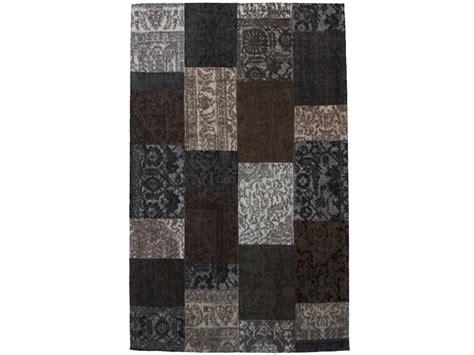 laagpolig vloerkleed bruin vloerkleed patchwork bruin patchwork vloerkleden