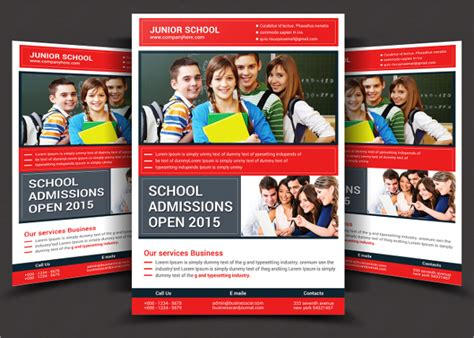 26 School Flyers Free Psd Ai Eps Format Download Free Premium Templates School Poster Templates