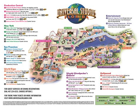map of studios the thrills universal studios florida