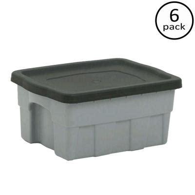 centrex plastics 4 gal dura box storage tote 6 pack