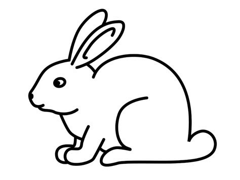 simple bunny coloring page rabbit drawing for kids easter bunny drawings for kids