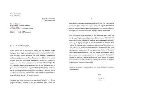 santa sede benedetto xvi la lettera di benedetto xvi pubblicata integralmente dalla