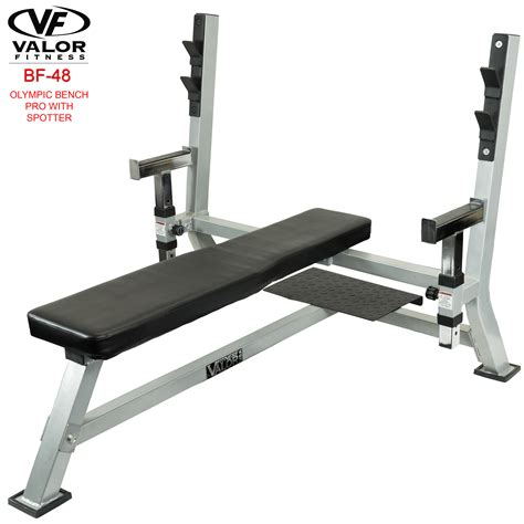 bench with spotter bf 48 olympic weight bench max valor fitness valor