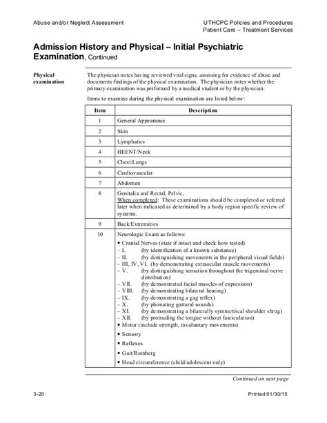Lade Psychiatric Admission Note Template