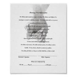 wedding vows template certificate marriage vow renewal template print zazzle