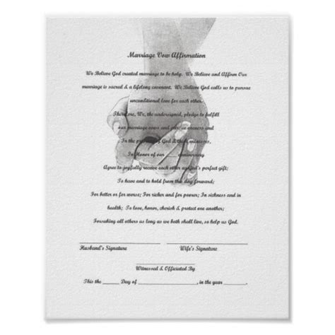 Wedding Vow Template certificate marriage vow renewal template print zazzle