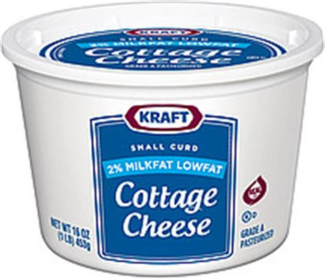 kraft cottage cheese kraft cottage cheese small curd 2 milkfat lowfat 16 0 oz