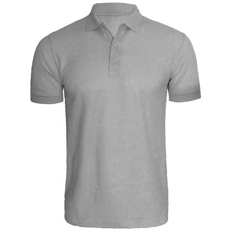 Plain Fit Shirt new mens blank sleeve polo shirts s regular fit