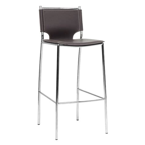 How To Clean Chrome Bar Stools by Montclare 29 25 Bar Stool Chrome Frame Brown Leather