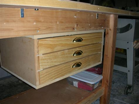 work bench with drawers workbench drawers by davelehardt lumberjocks com woodworking community
