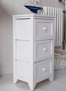 Bathroom Storage Cabinets With Drawers Maine Slim Freestanding Bathroom Cabinet With 3 Drawers For Storage