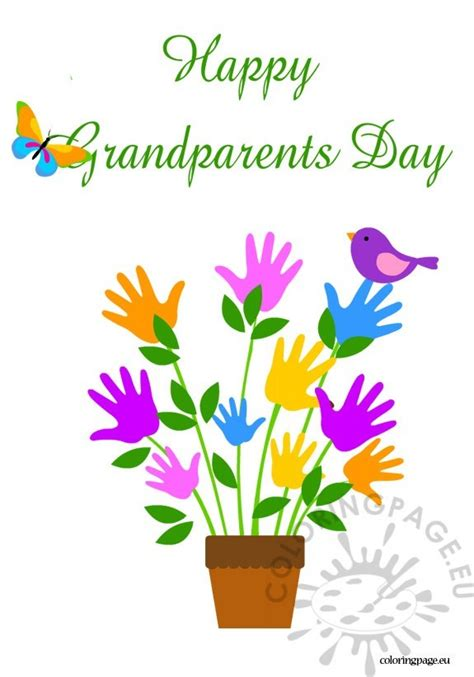 happy grandparents day card template grandparent s day coloring page