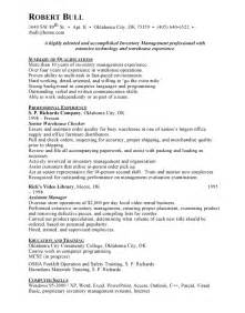 Inventory Management Resume Sample inventory management free resumes
