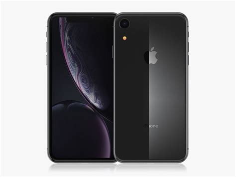 iphone xr black 3d cgtrader