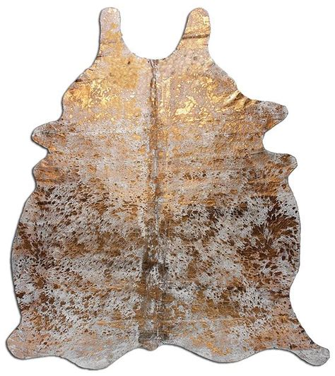 Gold Cowhide Metallic Cowhide Rug In Gold Www Decohides Your Source