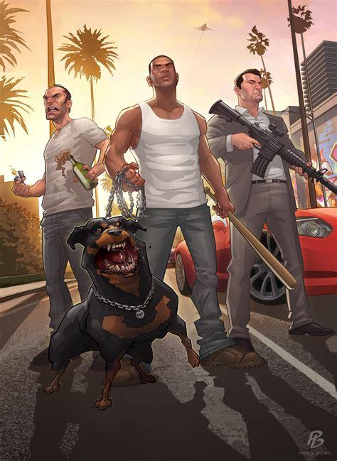 Gta V Grand Theft Auto 5 Fan Illustrations Wacky And Awesome