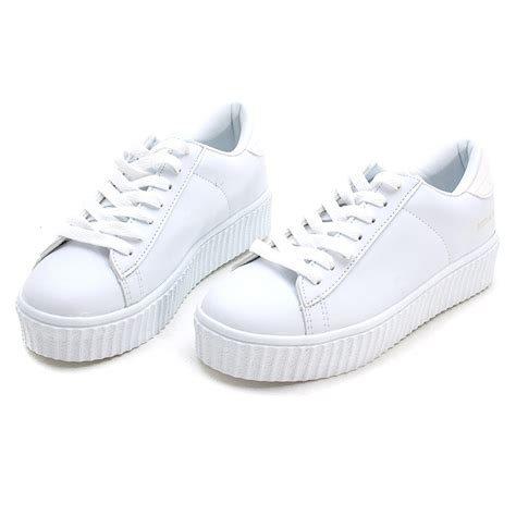 platform white sneakers s synthetic leather featuring a lace ups chunky