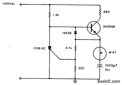 capacitor flasher circuit scr relaxation flasher led and light circuit circuit diagram seekic