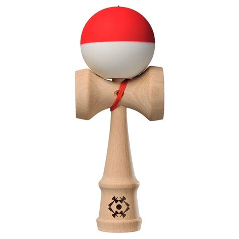 kendama bead kendama usa tribute half split and white silk matte