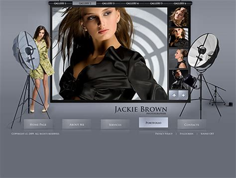 Photo Studio Gallery Flash Template Best Website Templates Studio Website Template